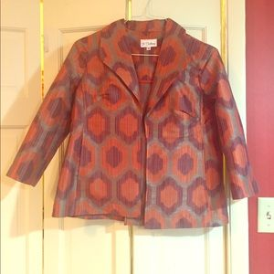 Jacket with 3/4 length sleeves, vented back, Small